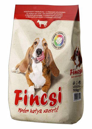 Сухий корм для собак Fincsi (зі смаком яловичини) 10 кг., фото 2
