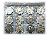 """Монеты коллекционные """"Гороскоп"""" d 3,8см набор 12шт (23269)"""