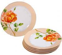 Набор 6 десертных тарелок ST Китайская Роза d 18 см Кремово-белый ST-30878psg, КОД: 172185