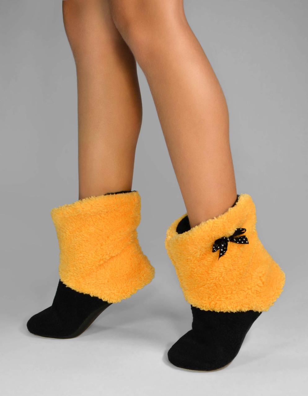 """Махрові тапочки, чобітки """"Honey Yellow"""""""