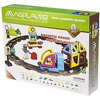 Конструктор Magplayer магнитный набор 68 элементов MPK-68, КОД: 2435199