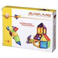 Магнитный конструктор Magplayer Магнитные плитки 32 элемента MPL-32, КОД: 2437279