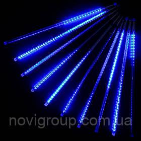 Гірлянда 8 * 80cm (Бурулька) Blue, 3 метра, прозора ізоляція, BOX