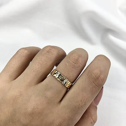 Серебряное Кольцо Женское City-A Кольцо из Серебра 925 Позолоченное Регулируемое Безразмерное №3002, фото 2