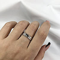 Срібне Кільце Жіноче City-A Кільце з Срібла 925 Регульоване Безрозмірне №3003