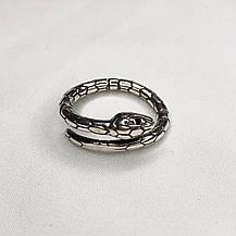 Серебряное Кольцо Женское City-A Кольцо Тонкое Змея из Серебра 925 Регулируемое Безразмерное №3011, фото 2