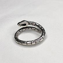 Серебряное Кольцо Женское City-A Кольцо Тонкое Змея из Серебра 925 Регулируемое Безразмерное №3011, фото 3