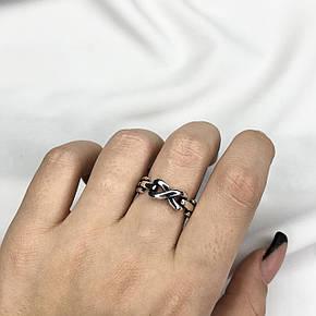 Серебряное Кольцо Женское City-A Кольцо Цепь из Серебра 925 Регулируемое Безразмерное №3013, фото 2