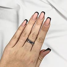 Срібне Кільце Жіноче City-A Кільце Дугою з Срібла 925 Регульоване Безрозмірне №3015, фото 3