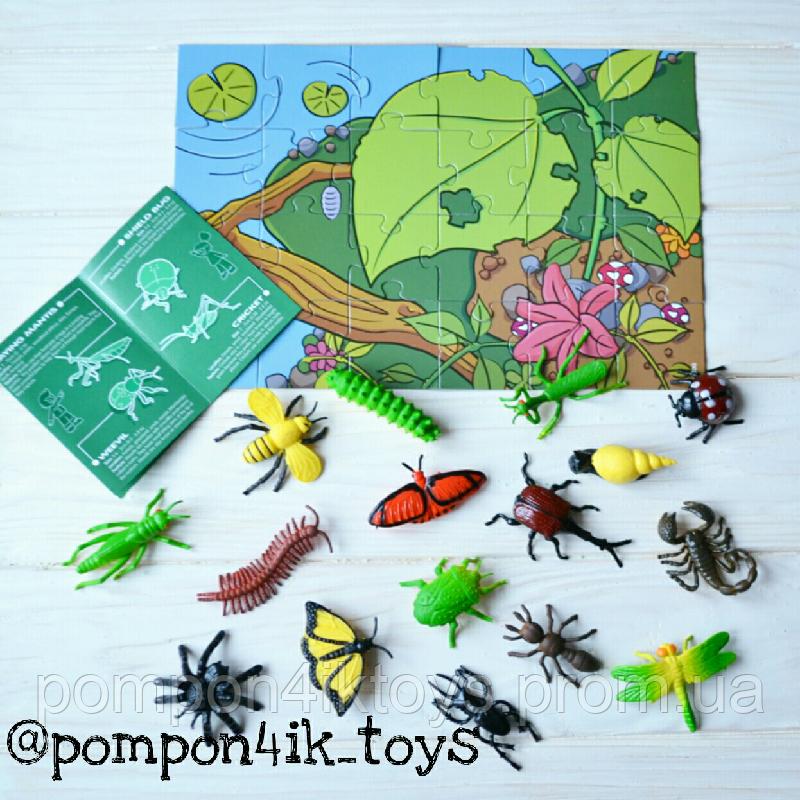 набор игрушечных насекомых