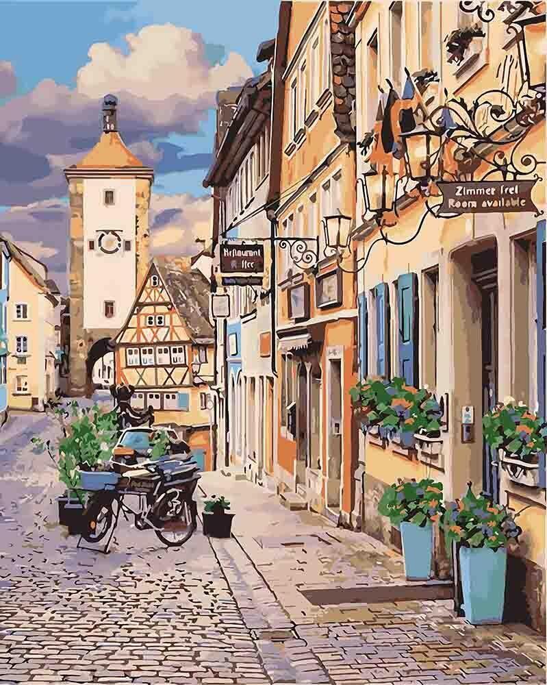 КНО3540 Раскраска по номерам Сказочная Бавария, Без коробки