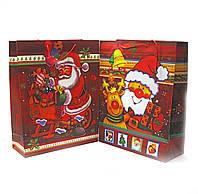 """Пакет подарочный """"Новый год"""" картон 38х30см (28897)"""