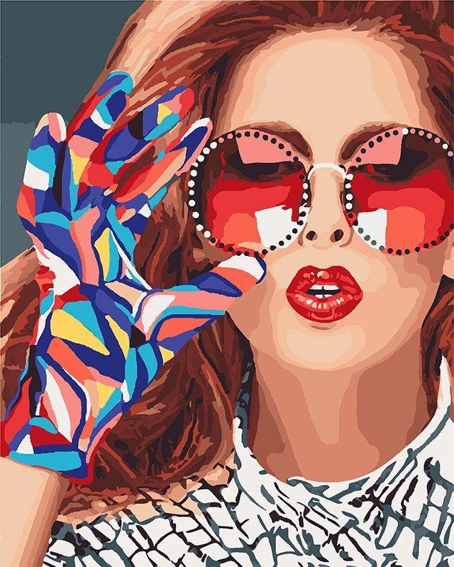 KH4577 Раскраска по номерам Модница, Без коробки