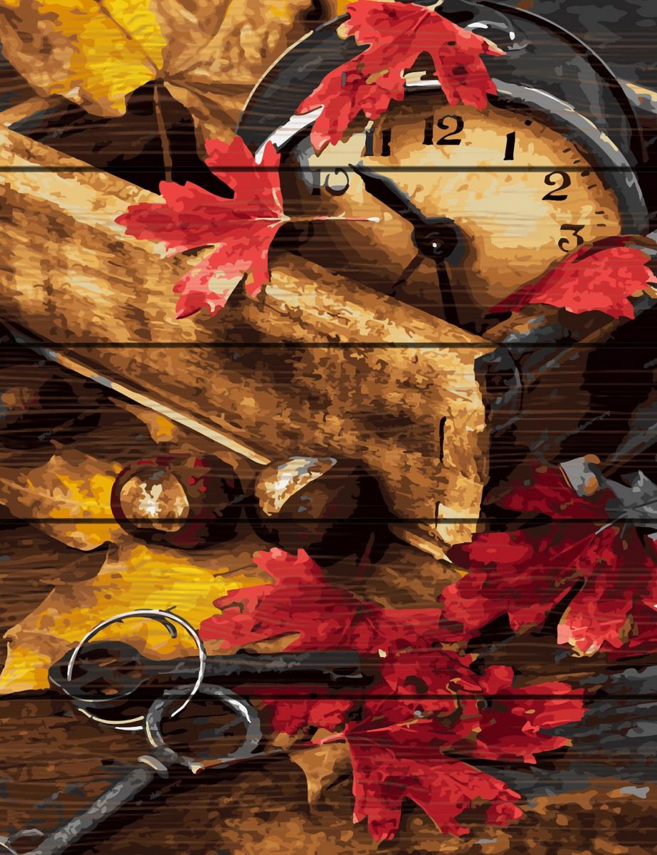 RA-GXT31990 Раскраска по номерам на деревяной основе Осенняя композиция