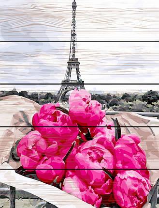 RA-GXT31855 Раскраска по номерам на деревяной основе Пионы в Париже, фото 2