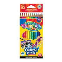 Карандаши Colorino Акварельные 12 цветов с кисточкой 33039PTR, КОД: 2447074