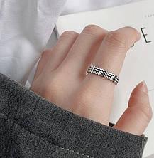 Срібне Кільце Жіноче City-A Кільце з Срібла 925 Хвилі Регульоване Безрозмірне №3001, фото 3
