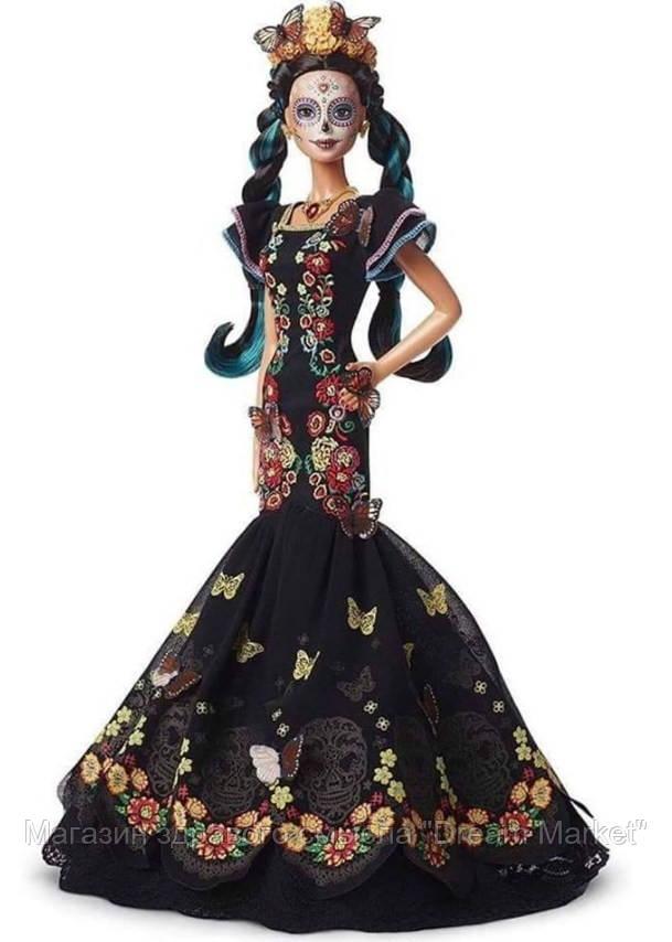 Коллекционная Кукла Барби День Мёртвых в черном платье с черепами и бабочками - Día de Muertos Barbie Doll