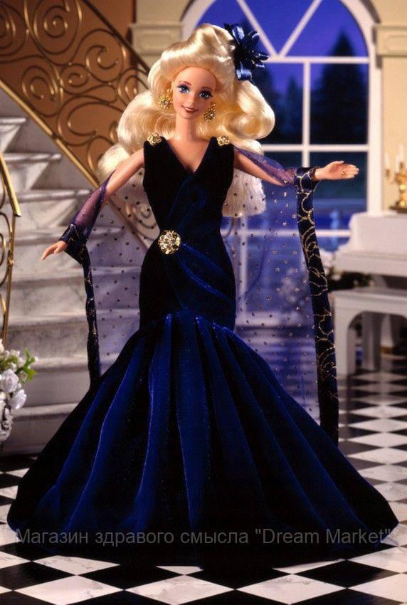 Коллекционная Кукла Барби Сапфировая мечта блондинка в синем платье с накидкой - Barbie Sapphire Dream Doll