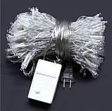 Светлодиодная гирлянда штора занвес 5х3 м 600 LED 220v Теплый белый, фото 3