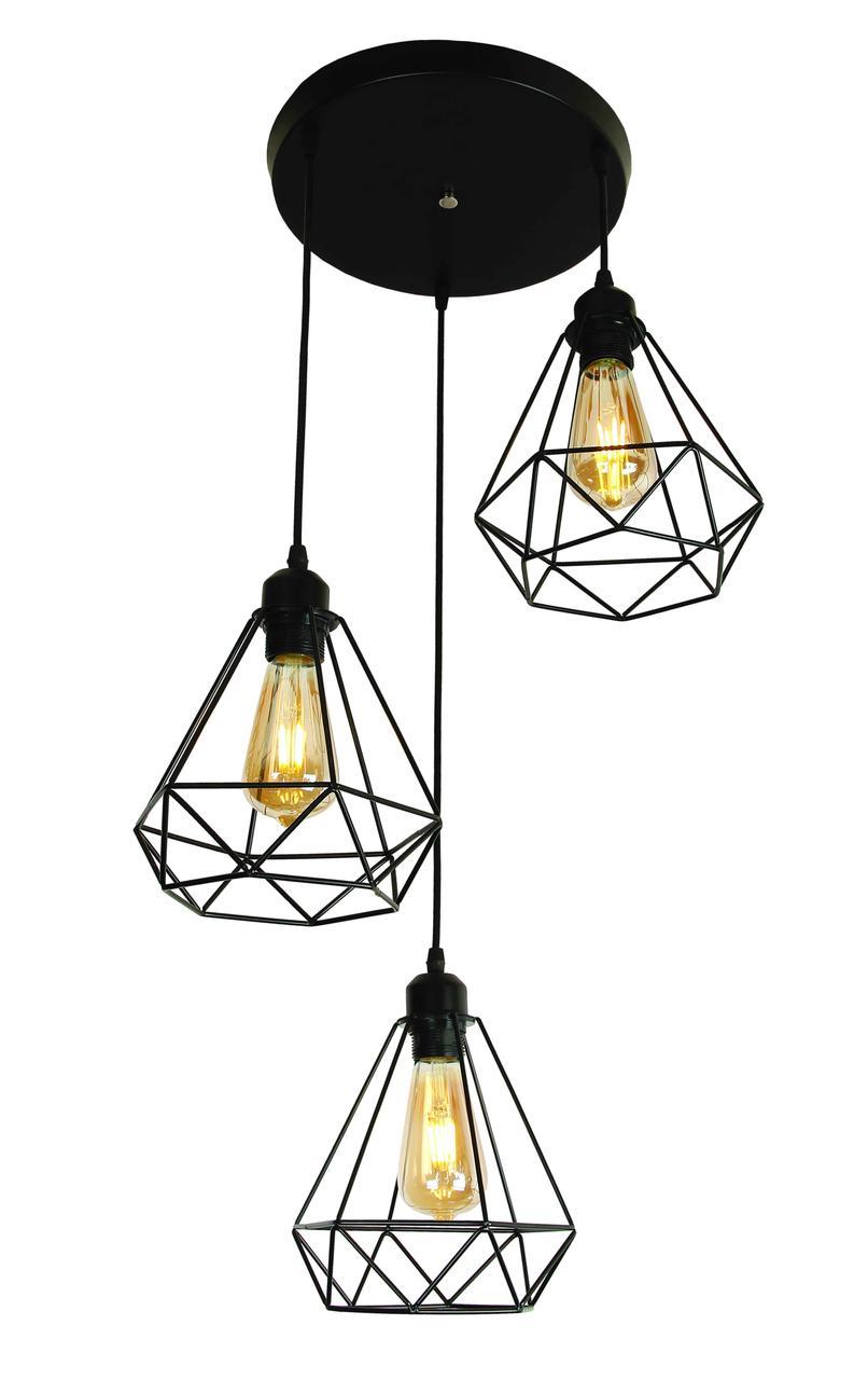 Люстры светильники Loft Levistella 909XL1335-3 BK