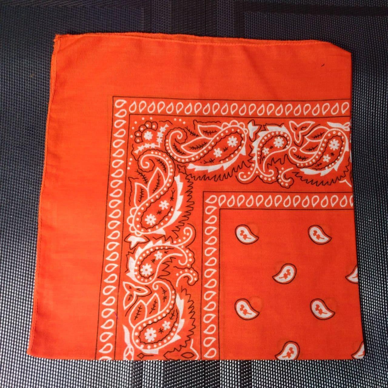 Бандана класична морквяна (помаранчева) 55х55 см