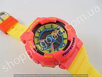 Детские часы Casio Baby G BA-111 5338 (013540) красный желтый салатовый водонепроницаемые