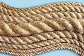 Веревка, канат джутовый диаметр 8мм- 50 метров