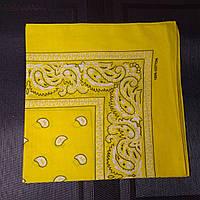 Бандана класична жовта 55х55 см