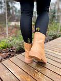 Женские ботинки Dr.Martens 1460 Beige Premium мех (копия), фото 3