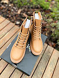 Женские ботинки Dr.Martens 1460 Beige Premium мех (копия), фото 4