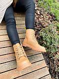 Женские ботинки Dr.Martens 1460 Beige Premium мех (копия), фото 5