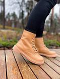 Женские ботинки Dr.Martens 1460 Beige Premium мех (копия), фото 7