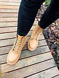 Женские ботинки Dr.Martens 1460 Beige Premium мех (копия), фото 8