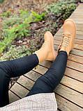 Женские ботинки Dr.Martens 1460 Beige Premium мех (копия), фото 9