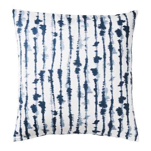 ИКЕА (IKEA) STRIMSPORRE, 204.326.54, Чехол на подушку, белый, синий, 50x50 см - ТОП ПРОДАЖ