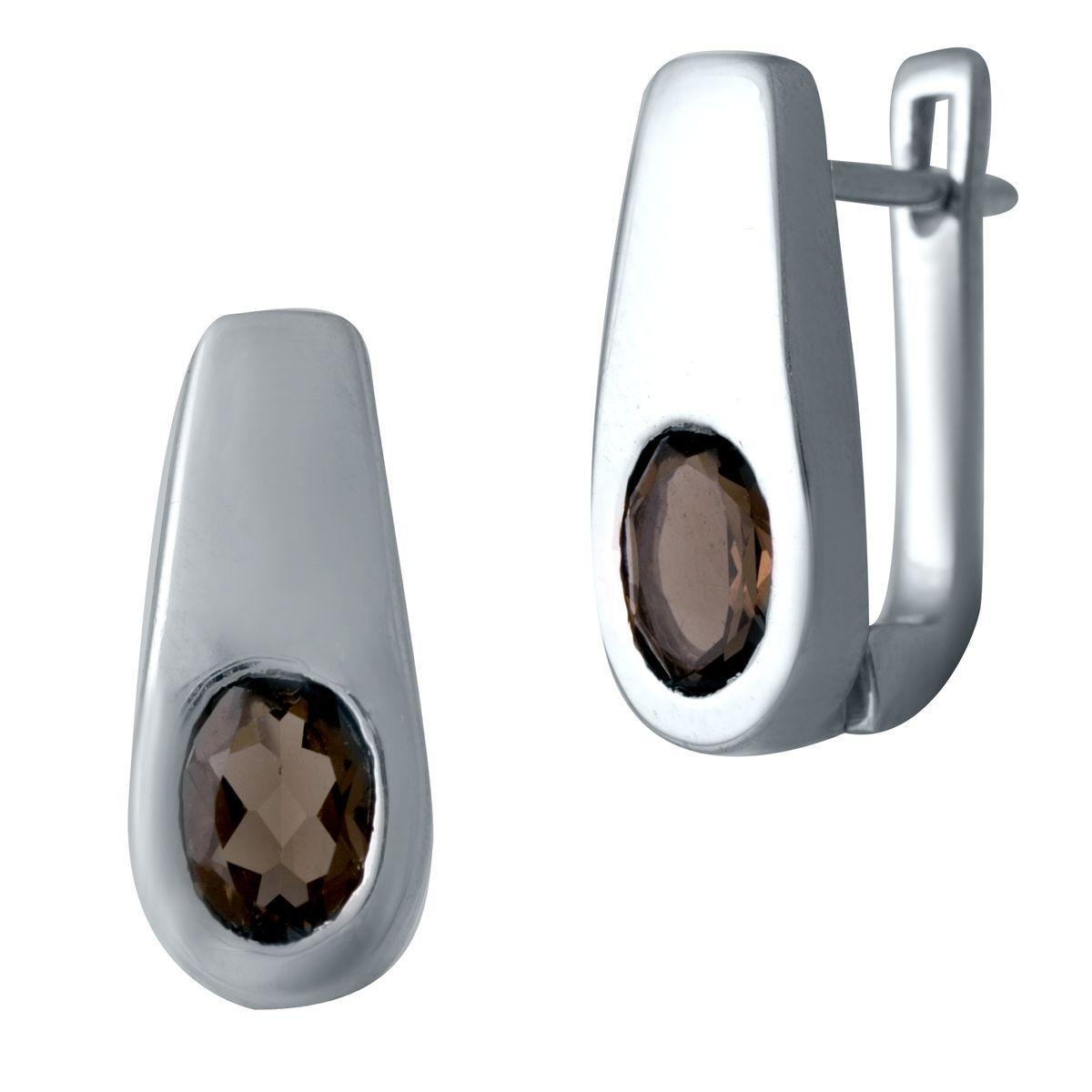 Серебряные серьги DreamJewelry с натуральным раухтопазом (дымчатым кварцем) (2033448)