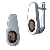 Серебряные серьги DreamJewelry с натуральным раухтопазом (дымчатым кварцем) (2033448), фото 1