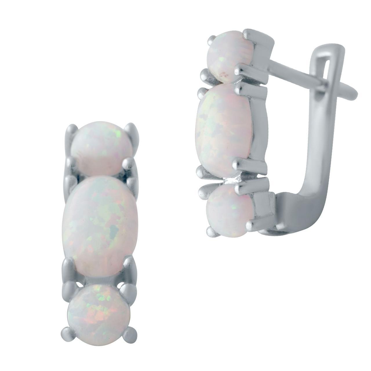 Срібні сережки DreamJewelry з опалом 1.44 ct (2040828)
