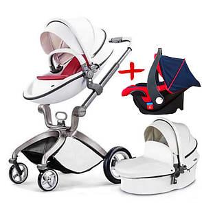 Детская коляска 2в1 Hot Mom Белая (HM-W)