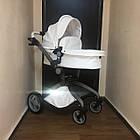 Детская коляска 2в1 Hot Mom Белая (HM-W), фото 4