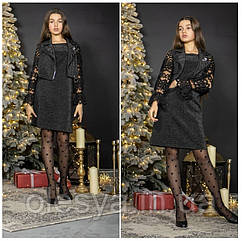 Праздничный комплект для девочек - платье и жилет, TM Madlen Размеры 140 - 152
