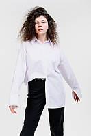 Удлиненная женская рубашка белая с кокеткой Arjen размер One Size (26421-W-OS)