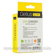 АЗУ Gelius Ultra Edition USB + MicroUSB 2.1A Black 1.2m