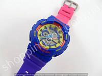 Детские часы Casio Baby G BA-111 5338 (013541) желтый фиолетовый розовый водонепроницаемые