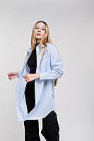 Женская удлиненная рубашка светло-голубого цвета Arjen размер One Size (46183-OS)