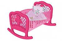Колыбель Технок 4524TXK (Розовая), кроватка для кукол,игрушки для девочек,мебель для куклы,игрушечная кроватка
