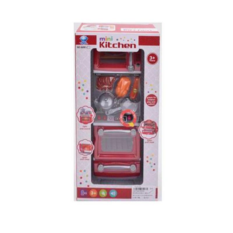 Кухня дитяча: плита, продукти (звук, світло), бат., в кор., 17-33,5-9,5см