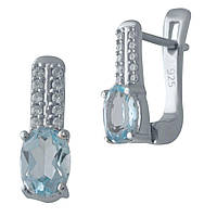 Срібні сережки DreamJewelry з натуральним топазом (2028284), фото 1