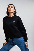 Женский укороченный свитшот черный с принтом GEORGIA girls campus Arjen размер One Size (46172-OS)